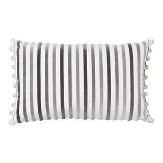 Schumacher Le Matelot Pillow in Charcoal For Sale
