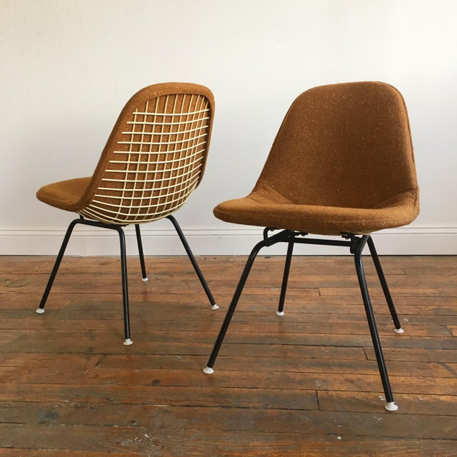 Herman Miller Eames Wire Chairs With Alexander Girard Covers - A Pair - Image 2 of 10
