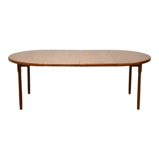 Danish Teak Extendable Round Dining Table For Sale
