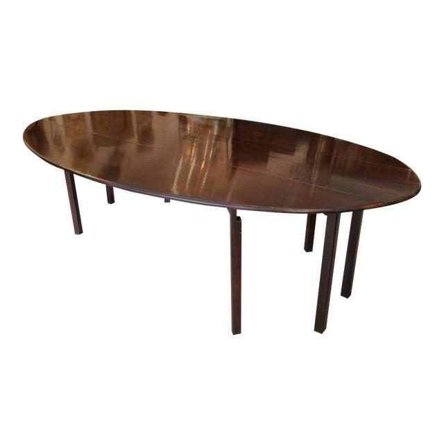 Mahogany Georgian Style Gate Leg Dining Table For Sale