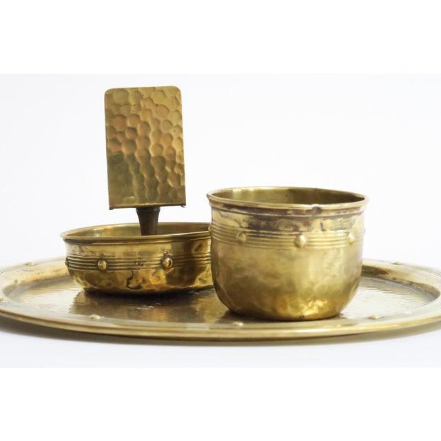 Hammered Brass Serveware - Set of 3 - Image 3 of 4