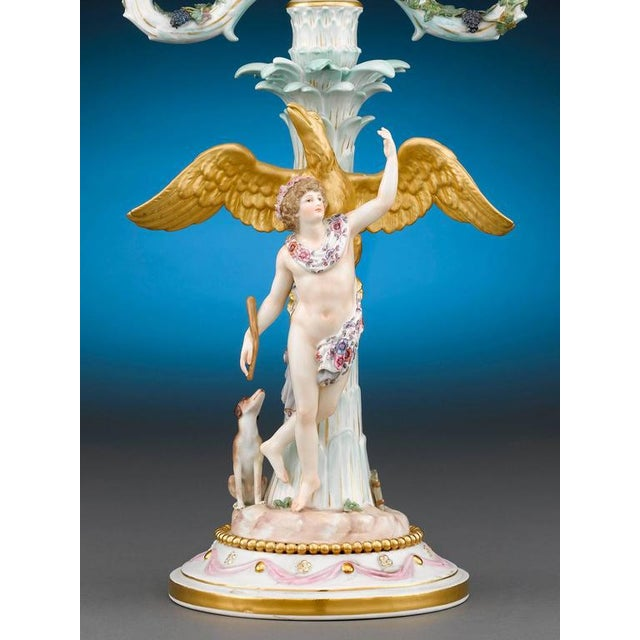 Neoclassical Meissen Two-Light Candelabra - A Pair For Sale - Image 3 of 5
