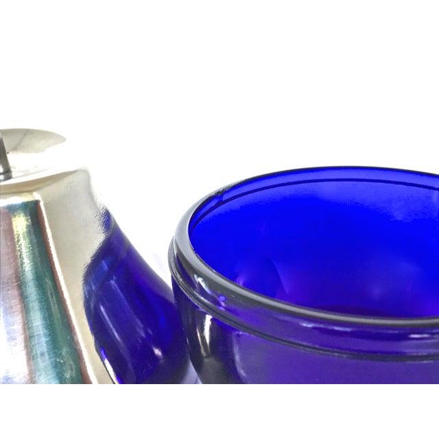 Chrome Cobalt & Chrome Jelly Pot & Spoon For Sale - Image 7 of 10