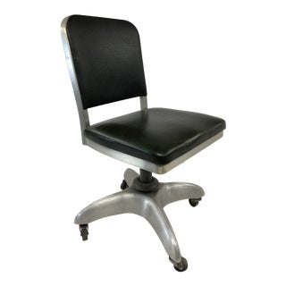 Vintage Industrial Aluminum Swivel Desk Chair by Goodform For Sale