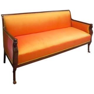 Regency Mahogany Frame Sofa, England, Circa 1815 For Sale