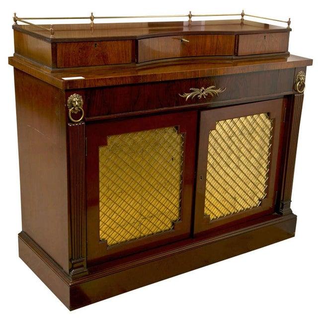 Regency Style Rosewood Serving Cabinet - Image 1 of 8