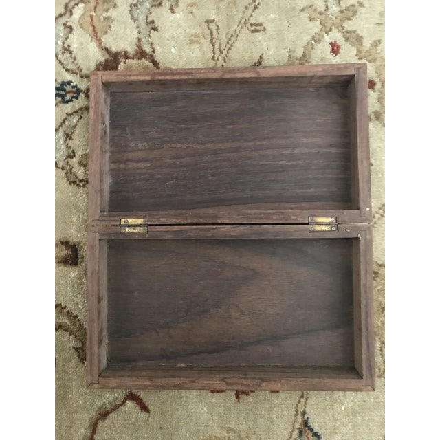 Vintage Carved Wooden Footed Jewelry Box For Sale - Image 9 of 10
