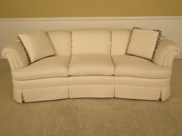 Kindel White Upholstered Curved Back Sofa   Image 2 Of 11