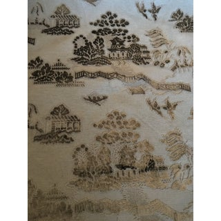 Brunschwig & Fils La Pagode Velvet Fabric For Sale
