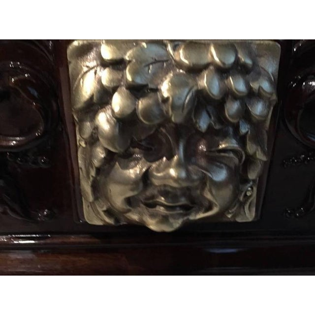 Bronze Face French Art Deco Vitrine or Dry Bar For Sale - Image 10 of 10