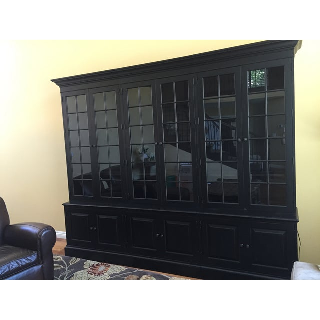 Black Ethan Allen Villa Triple Bookcase - Image 5 of 8