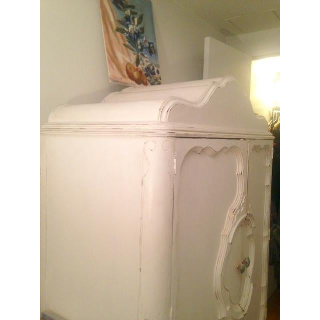 White Antique Shabby Chic Armoire - Image 5 of 5