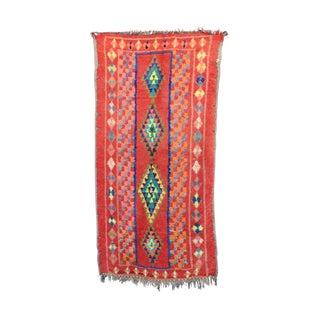 """Boujad Vintage Moroccan Rug, 3'9"""" X 6'7"""" Feet"""
