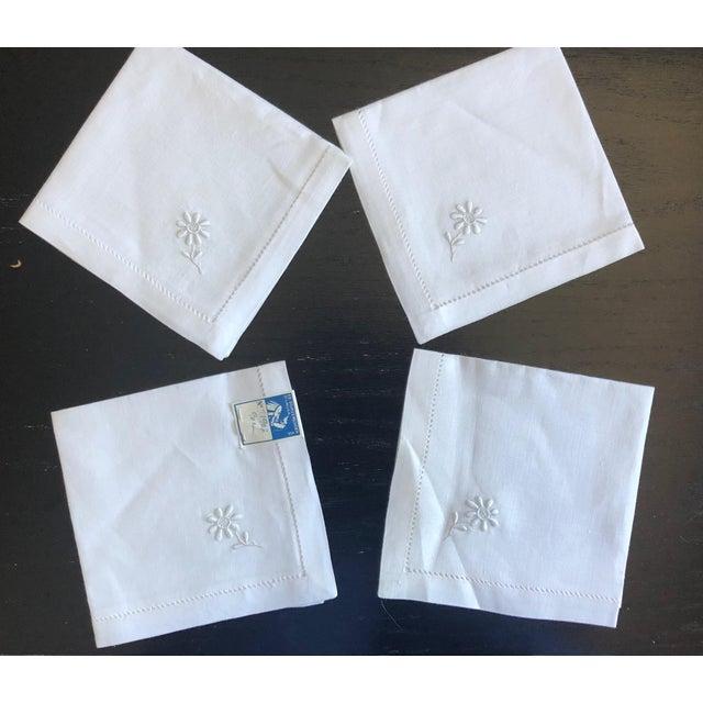 Vintage Linen Luncheon Napkins - Set of 4 For Sale - Image 4 of 12