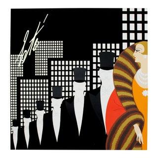 Mid Century Modern Unframed Rare Vintage Erte Art Poster 1970s For Sale