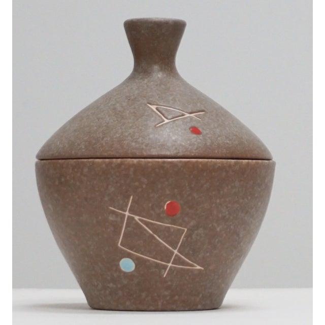 Mid-Century Modern Geometric Ceramic Pot Sculpture For Sale - Image 3 of 6