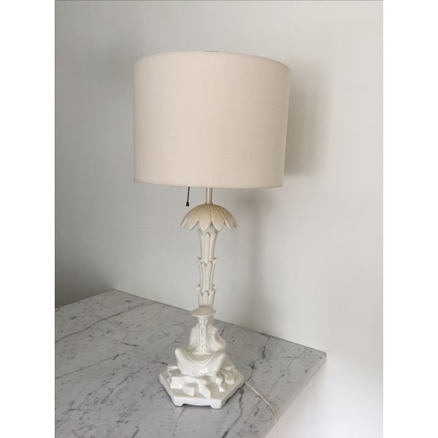 Chinoiserie White Blanc De Chine Table Lamp - Image 7 of 7