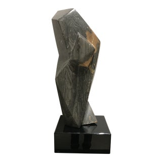 Vintage Mid-Century Abstract Faceted Marble Cubist Sculpture For Sale