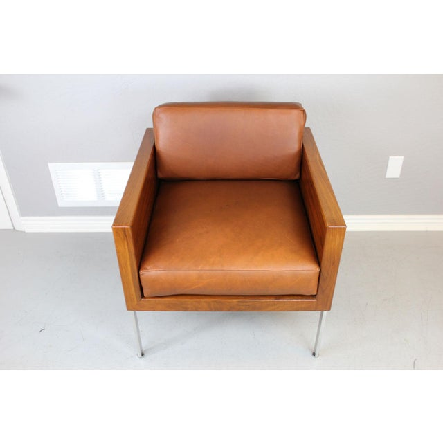"""Brown Harvey Probber Architectural Series """"Cube"""" Chair For Sale - Image 8 of 9"""