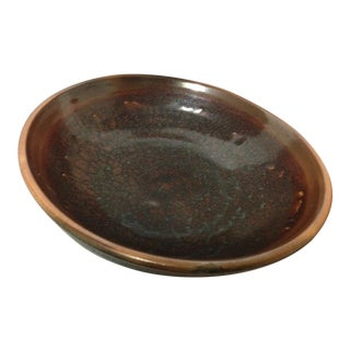 Mid 20th Century Signed Charles Higa Pottery Bowl Hawaii For Sale