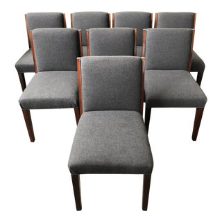 Ralph Lauren Home Modern Metropolis Dining Chairs - Set of 8 Side Chairs For Sale