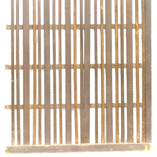 Japanese Machiya Cedar Exterior Panel/Screen For Sale - Image 4 of 7