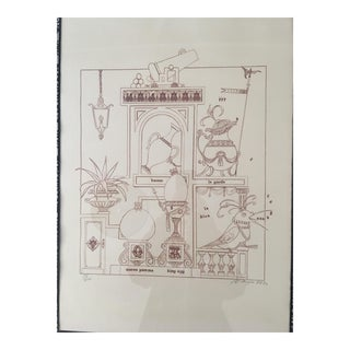1973 Philippe Henri Noyer's Portrayal of Royalty Drawing For Sale
