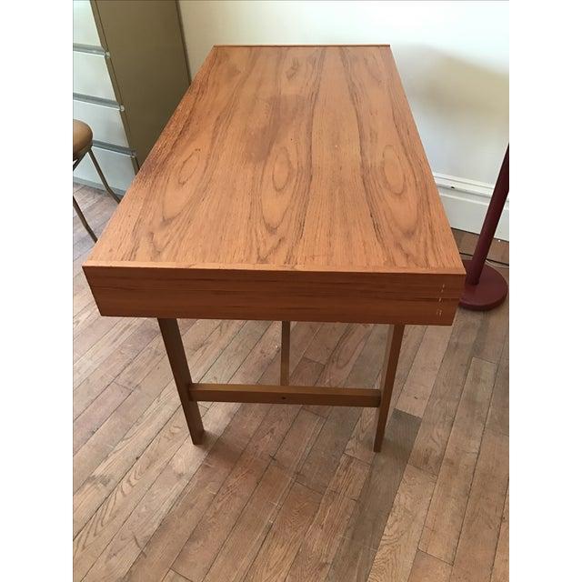 Two Drawer Danish Teak Desk - Image 5 of 5