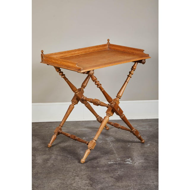 19th Century Oak Butler's Tray Table For Sale - Image 9 of 9