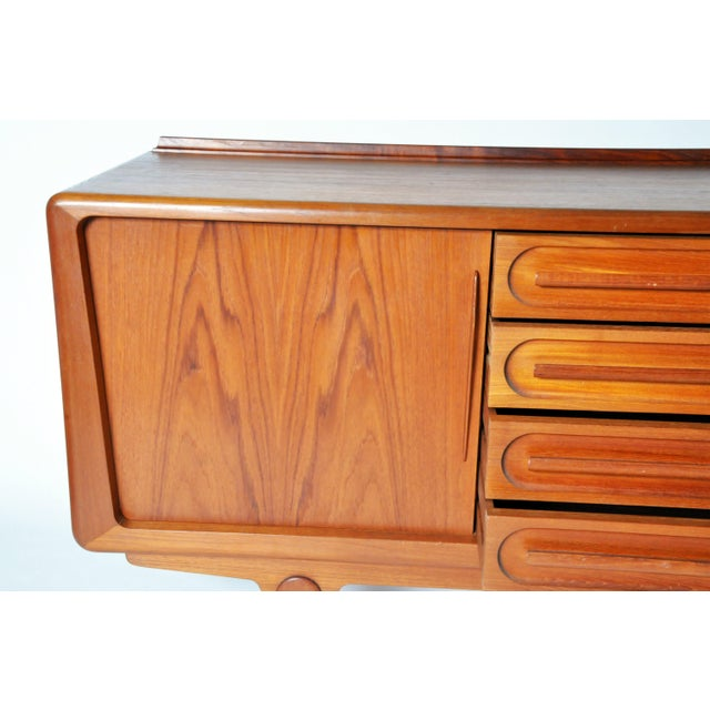 Teak Console with Four Drawers Attributed to Vamo Sonderborg For Sale - Image 7 of 12