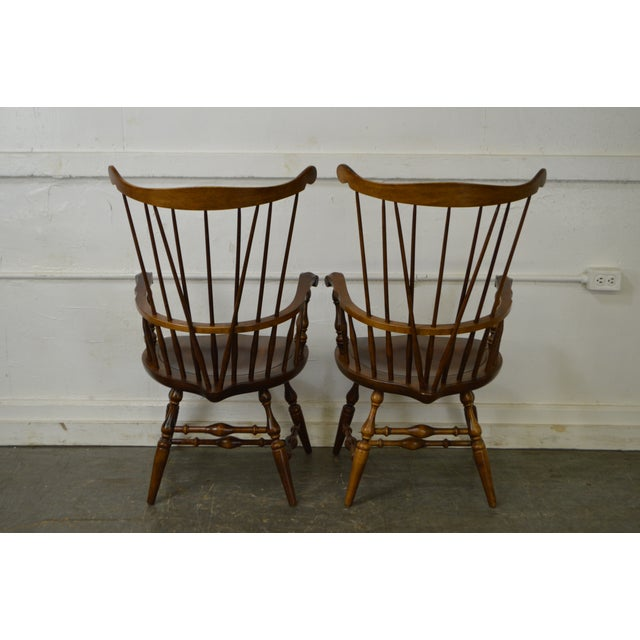 Nichols & Stone Set of 6 Windsor Style Dining Chairs - Image 4 of 10