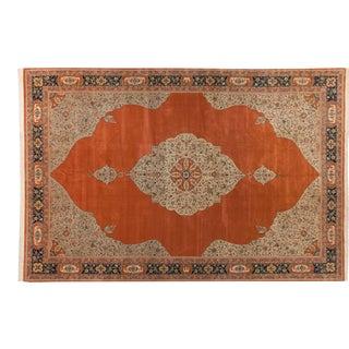 "Vintage Bulgarian Tabriz Design Carpet - 14' X 20'10"" For Sale"
