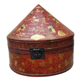 Chinese Chinoiseri Hat Box For Sale