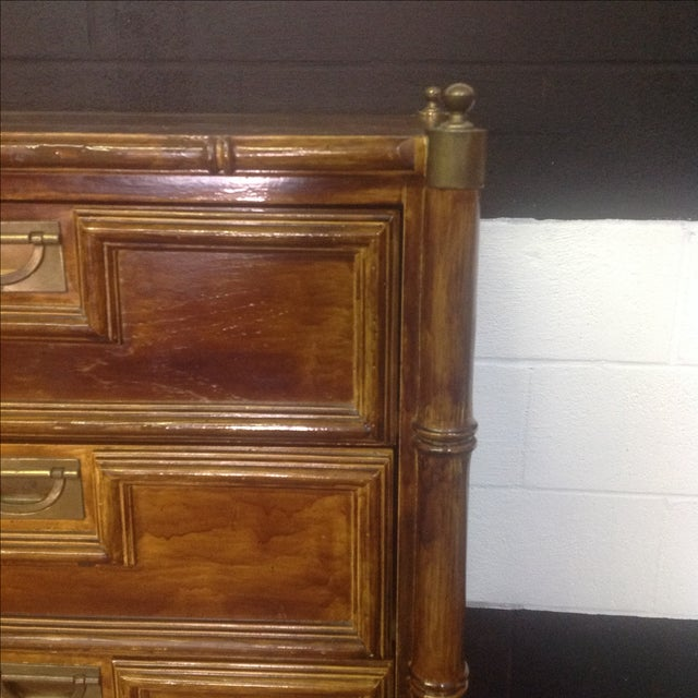 Stanley Faux Bamboo Dresser - Image 3 of 8