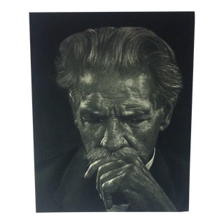 "Black & White Print on Paper, ""Albert Schweitzer"" by Yousuf Karsh, 1967 For Sale"
