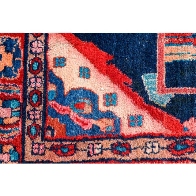 Vintage Mid-Century Hand-Knotted Persian Rug - 4′8″ × 9′11″ For Sale - Image 11 of 13