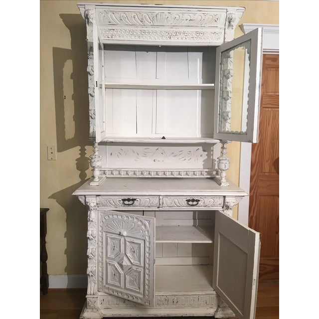 French Gothic Cabinet & Hutch - Image 6 of 8