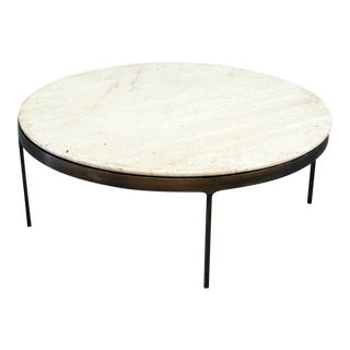 Modern Marble Top Coffee Table For Sale