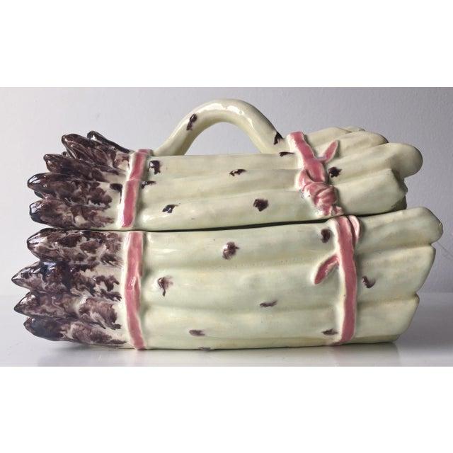 Vintage Asparagus Faience Tureen & Lid - Image 11 of 11