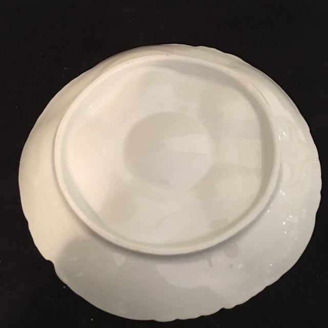 Petite Hand Painted Oyster Plate With Silver Picks - 5 Pc. For Sale In Miami - Image 6 of 7