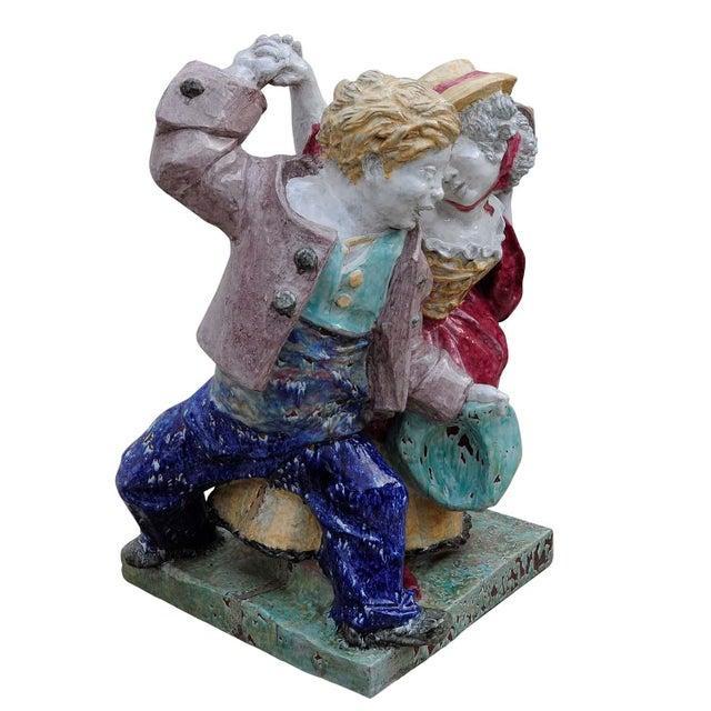 Ceramic Nymphenburg Porcelain Sculpture Dancing Couple By Josef Wackerle For Sale - Image 7 of 11