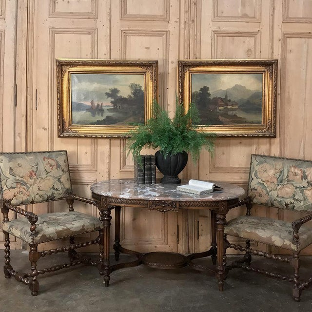 Realism Pair 19th Century Framed Oil Paintings on Canvas For Sale - Image 3 of 13