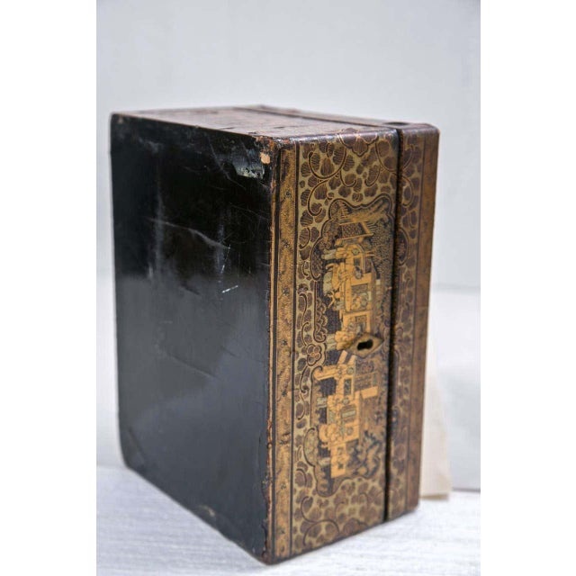 19th Century Chinoiserie Antique Humidor Jewelry Box For Sale - Image 10 of 12