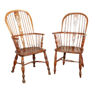 English Windsor Arm Chairs For Sale