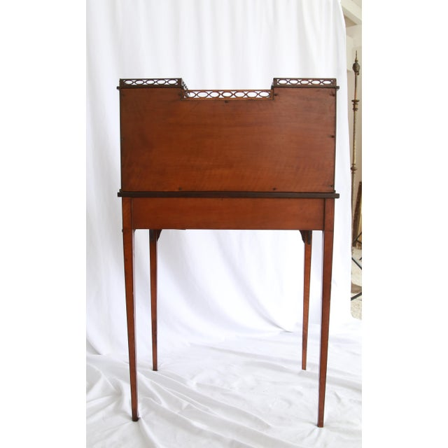 Federal 19th Century Federal Hand-Painted Secretary Desk For Sale - Image 3 of 12