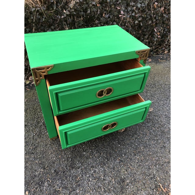 1970s Huntley by Thomasville Asian Inspired Nightstand For Sale - Image 5 of 9