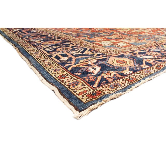 "Islamic Antique Persian Heriz Rug- 11'2"" x 15'3"" For Sale - Image 3 of 6"