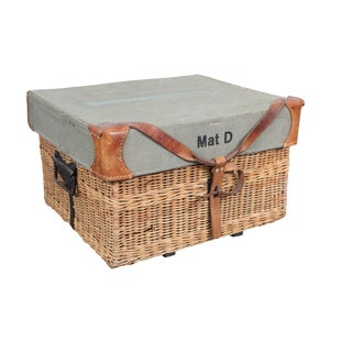 Swiss Military Wicker Basket