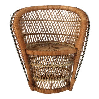 Wicker Chair Plant Holder