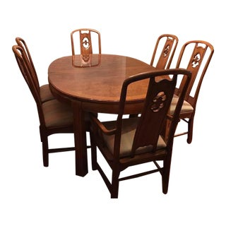 Thomasville Chinoiserie Dining Table & Chairs - Set of 7